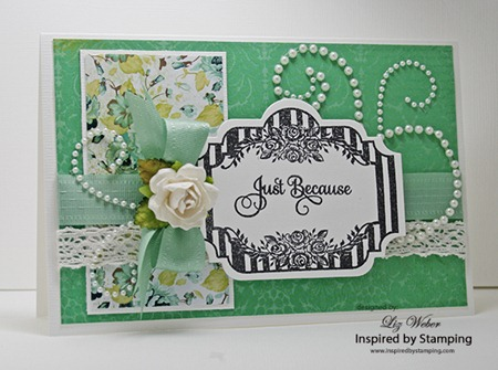 Just Because card Liz Weber