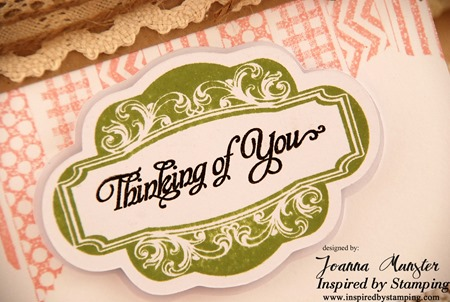 Inspired by Stamping Single Fancy Frame and Fancy Sentiments