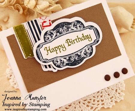 Inspired by Stamping Single Fancy Frame, Washi Tape, Big Wishes