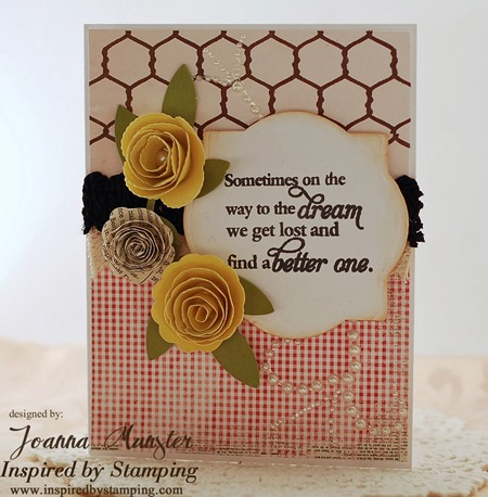 Inspired by Stamping Words of Inspiration and French Country Backgrounds