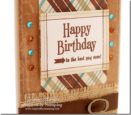 Inspired by Stamping Background Basic Lines Stamp Set - Plaid - Masculine Card