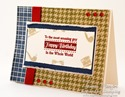 Inspired by Stamping Background Basics IV stamp set - masculine card