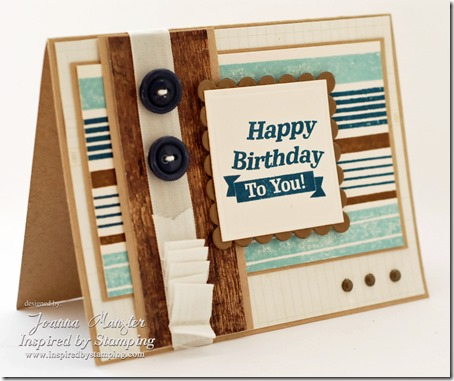 Inspired by Stamping Background Basics Lines and Guy Sentiment Stamp Sets - Masculine Card