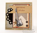 Inspired by Stamping Birthday Wishes, Guitars Stamp Set - Masculine Card