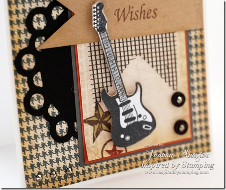 Inspired by Stamping Guitars Stamp Set - Joanna Munster - Masculine Card