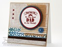 Inspired by Stamping Guy Sentiments - Background Basics IV & Lines Stamp Sets _ masculine card