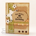 Inspired by Stamping Guy Sentiments, Background Basics IV stamp sets - masculine card