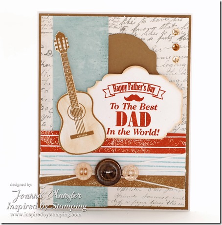 Inspired by Stamping Guy Sentiments, Guitars & Background Basics Stamp Sets - Masculine Card