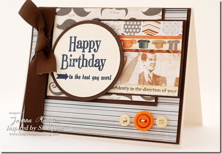Inspired by Stamping Guy Sentiments - Masculine Card - Stamp Set