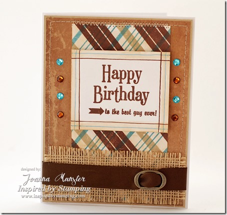 Inspired by Stamping Guy Sentiments Stamp Set & Background Basics Lines