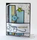 Inspired by Stamping Happy Occasions, Background Basics Lines Stamp Set - Masculine Card