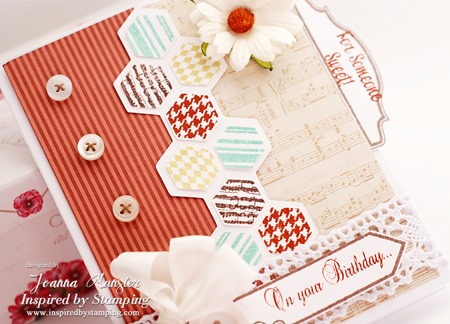 Inspired by Stamping Hexagon Card