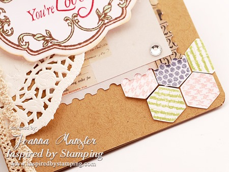 Inspired by Stamping Hexagon Clean and Simple Card