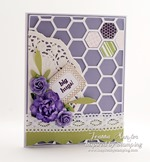 Inspired by Stamping Hexagons and Creative Tags Stamp Sets
