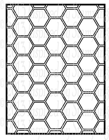 Inspired by Stamping Hexagons Cover Plate