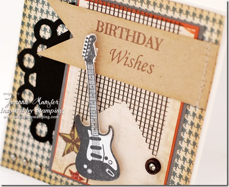 Inspired by Stamping Masculine Card - Guitars Stamp Set