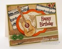 Inspired by Stamping Set Guitars, Background Basics III Stamp Sets - Masculine Card