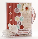 Inspired by Stamping Vintage Banners, Hexagons, Everyday Tabs Stamp Sets